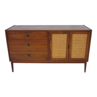 Danish Styled Walnut Credenza / Chest For Sale