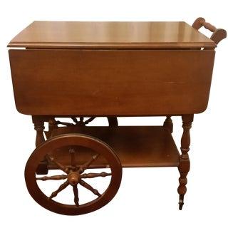 Mid-Century Modern Maple Tea Cart
