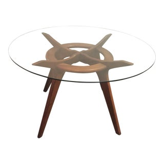 Adrian Pearsall Walnut and Glass Dinning Table