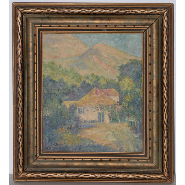 """Canvas George Gardner Symons (1863-1930) """"Yonkers, Ny"""" Original Oil Painting C.1890s For Sale - Image 7 of 7"""