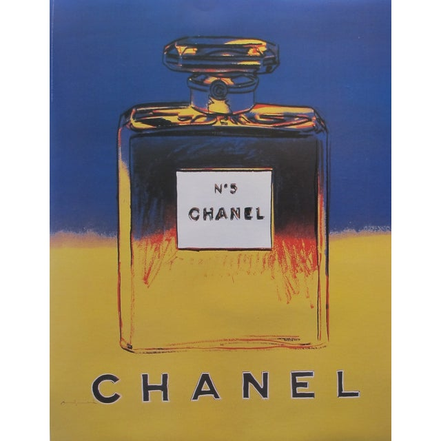 Blue & Yellow Andy Warhol 1997 Chanel No. 5 Poster - Image 1 of 2