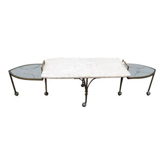 Mid-Century Modern Marble Top Metamorphic Coffee Table For Sale