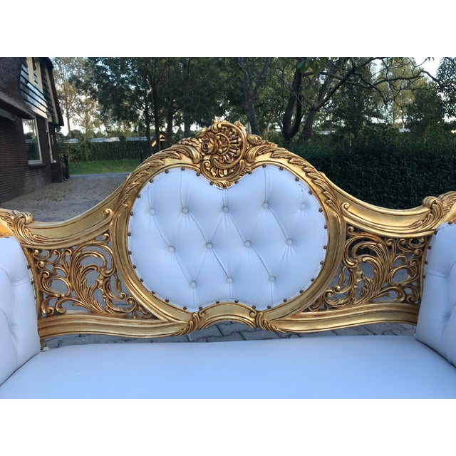 French Louis XVI Style Settee For Sale - Image 10 of 12