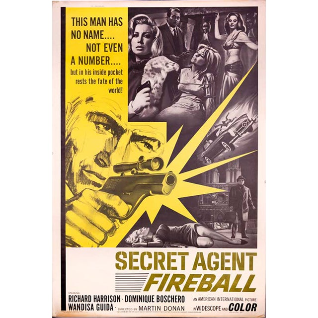 Secret Agent Fireball Giant 1966 Drive-In Poster - Image 1 of 2