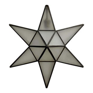 Geometric Moravian Star Pendant Lamp For Sale
