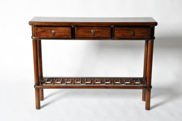 Chinese Side Table With Stretcher And Restoration   Image 3 Of 11