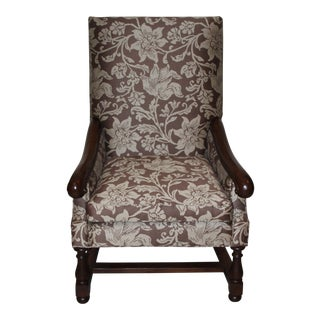 Pearson Large Floral Print Armchair For Sale