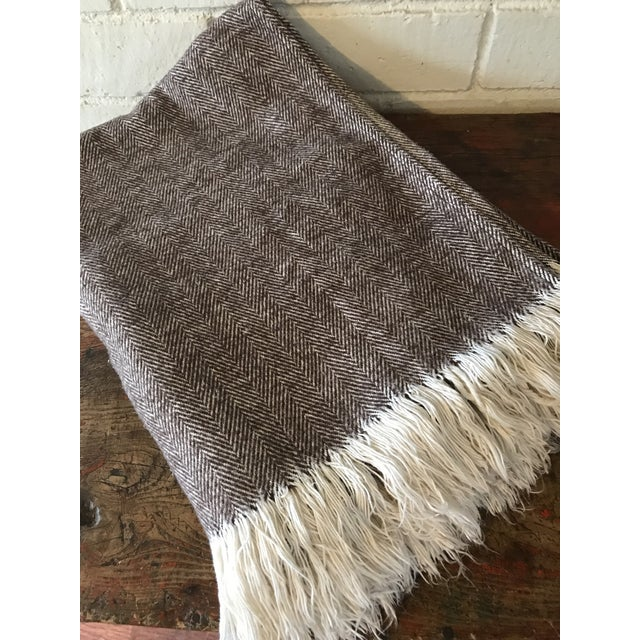 Brown & Ivory Woven Cotton Throw - Image 3 of 10