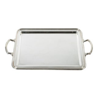 English Silver Plate Tray For Sale