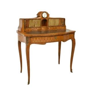 19th Century French Louis XV Style Parquetry Bonheur Du Jour For Sale