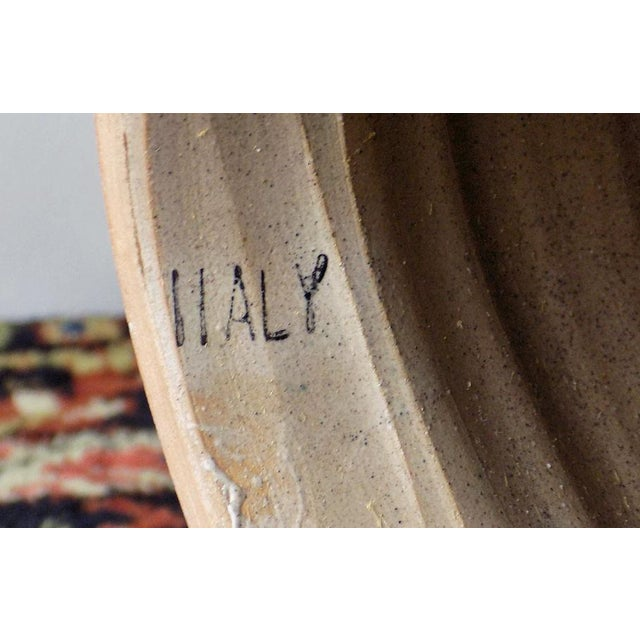 1970s Italian Incised Pottery Table Lamp For Sale - Image 9 of 13