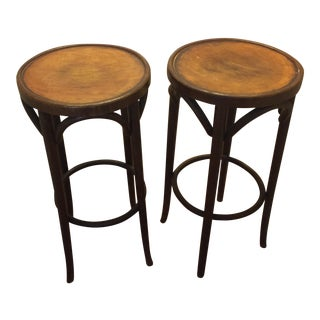 Antique Bentwood Stools - A Pair
