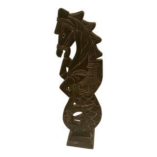 1950s Vintage Indonesian Hippocampus Sculpture