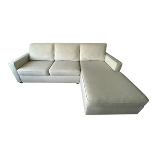 West Elm Henry 2-Piece Chaise Sectional For Sale
