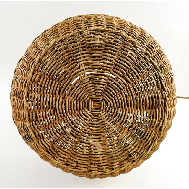 1930s Boho Chic Woven Reed Basket For Sale In San Antonio - Image 6 of 7
