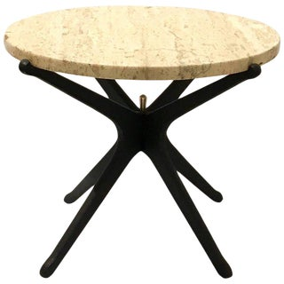 Italian Mid-Century Modern Star Base Small Cocktail Table For Sale