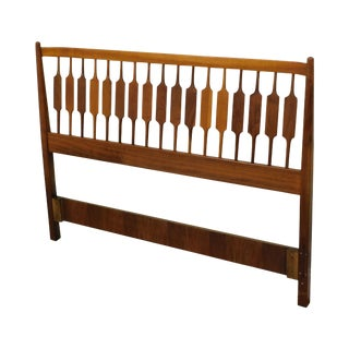 Kipp Stewart for Drexel Declaration Walnut Full Size Headboard For Sale