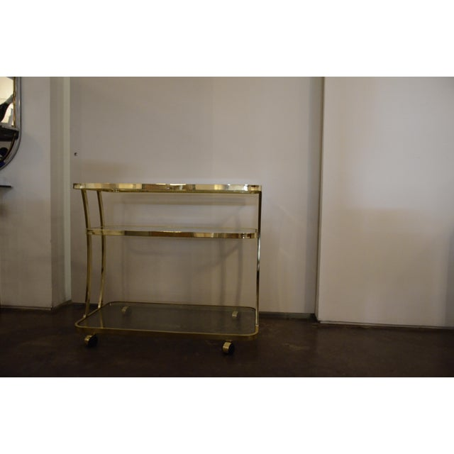 DIA Three-Tier Brass and Glass Bar, Drinks, Tea or Service Cart /Trolley - Image 3 of 11