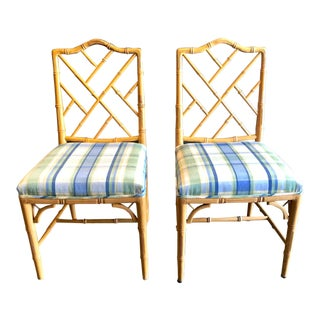 Set of 4 Faux Bamboo Dining Chairs-C. 1960-1970