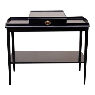 1950s French Black Small Console Table For Sale