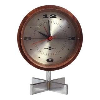 Rosewood Desk Clock by Howard Miller For Sale