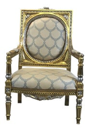 Image of Gold Leaf Bergere Chairs