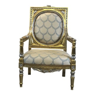 21st Century Vintage Accent Chair, French Chair, Handmade, Antique Vintage Furniture Reproduction , Victorian For Sale