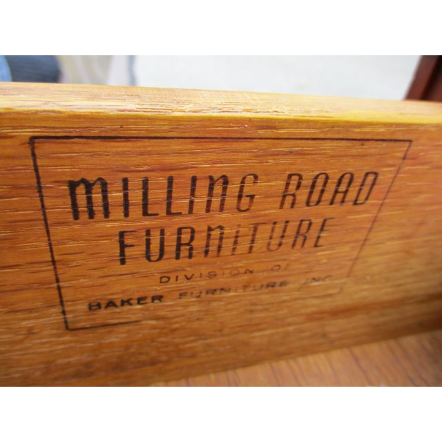 Baker Milling Road Walnut Low Side or Display Table For Sale - Image 10 of 12