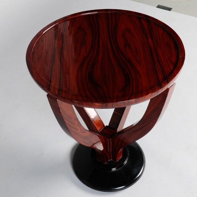 Art Deco Round Palasander Table on Pedestal Base For Sale In Detroit - Image 6 of 8