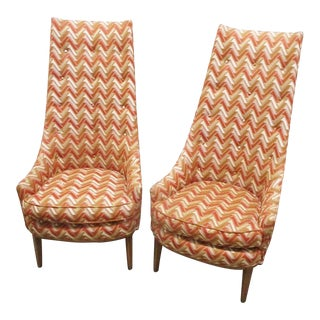 Mid Century PEarson Style Lounge Chairs - a Pair For Sale