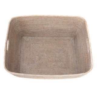 "Artifacts Rattan Rectangular Basket 28""x22x13"" Preview"