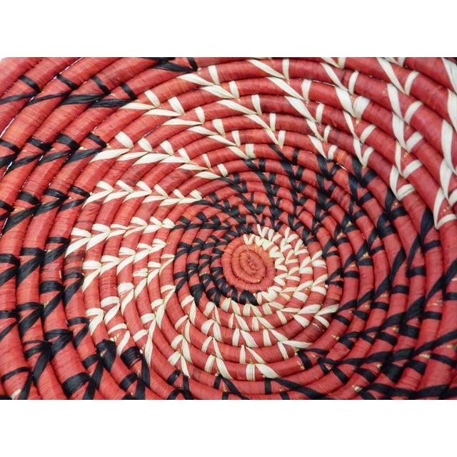 Spiral Handwoven Burundi Baskets - Set of 2 - Image 5 of 5