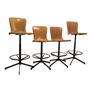 Fiberglass Cosco Stools - Set of 4 For Sale