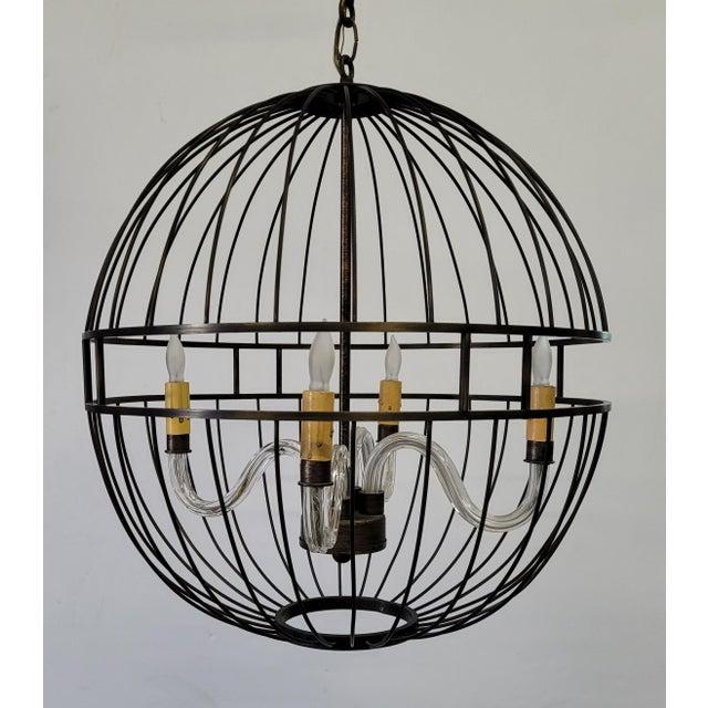Metal Paul Marra Design Oil Rubbed Bronze Metal Sphere Chandelier For Sale - Image 7 of 7