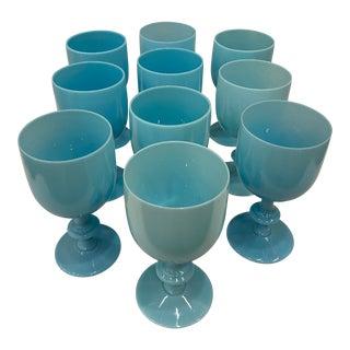 Vintage Portieux Vallerysthal French Opaline Goblets - Set of 10 For Sale