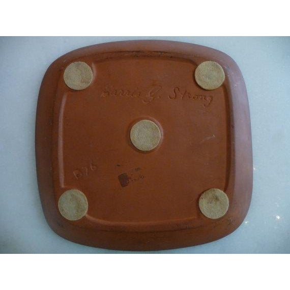 Mid-Century Modern 1960s Mid-Century Modern Harris G Strong Ram Ceramic Platter For Sale - Image 3 of 5