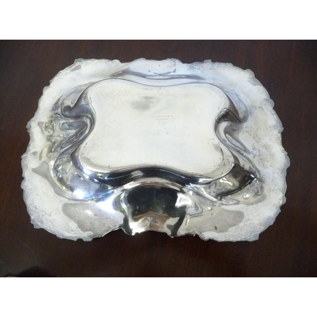 Late 19th Century Antique American Silverplate Quadruple Bread Serving Tray For Sale - Image 5 of 6