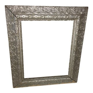 Vintage Victorian Silver Color Gesso Frame For Sale