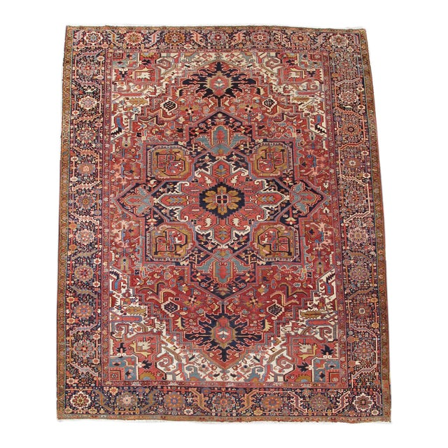 Heriz Persian Rug - 10′ × 14′ For Sale