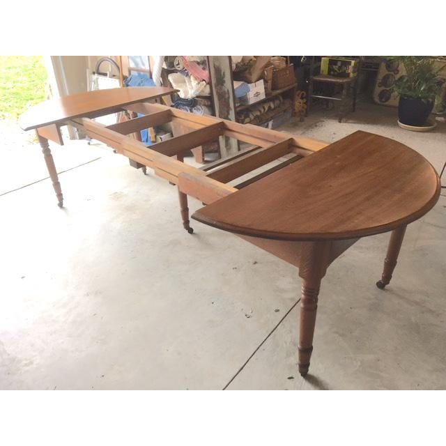 American Antique Walnut Dining Table With Leaves For Sale - Image 3 of 13