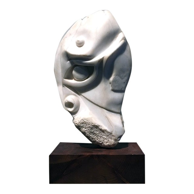 American Sculpture Hand-Carved Stone : Moses, Ca. 1940 For Sale