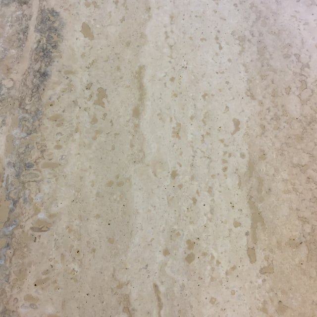 Travertine Marble Dining Table or Desk For Sale - Image 9 of 13
