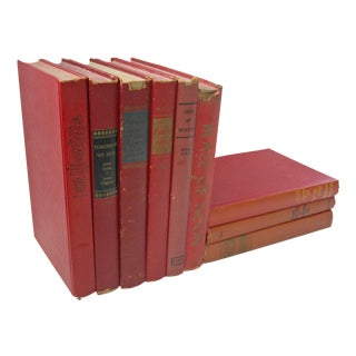 Vintage Red Book Collection - Set of 9