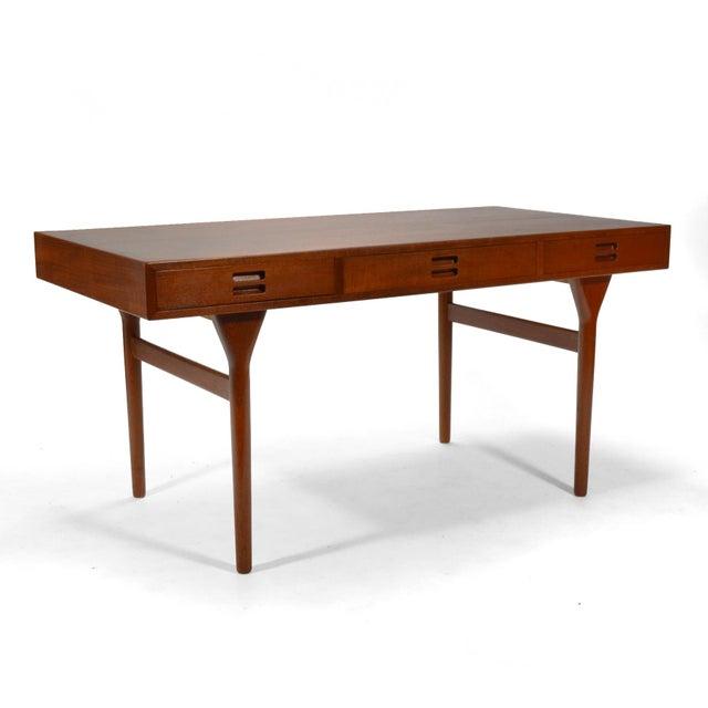 Teak Nanna Ditzel & Jørgen Ditzel Three-Drawer Teak Desk For Sale - Image 7 of 10