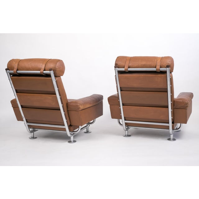 1960s Pair of Illum Wikkelsø High-Backed Lounge Chairs for Ryesberg Møbler For Sale - Image 5 of 7