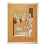 Image of Circa 1930's French Fashion Pochoir Print For Sale