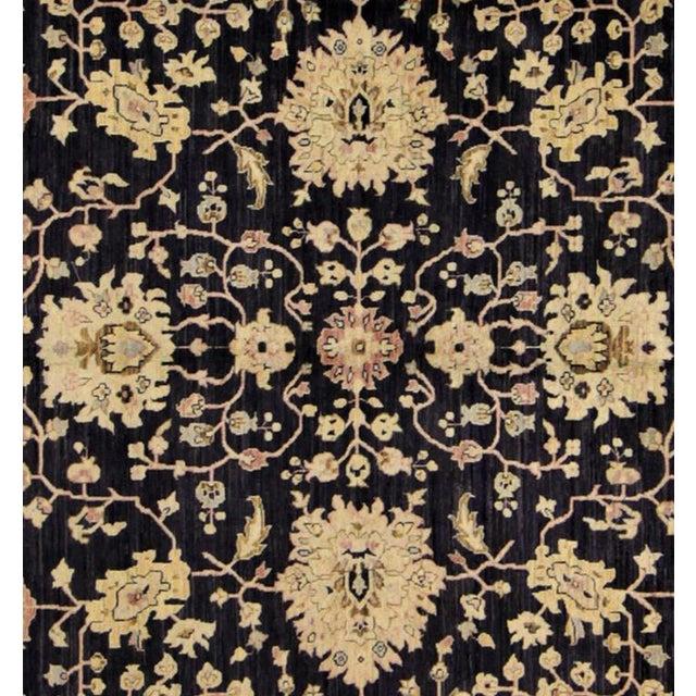 """Traditional Kafkaz Peshawar Hope Blue & Pink Wool Rug - 9'9"""" x 13'4"""" For Sale - Image 3 of 7"""