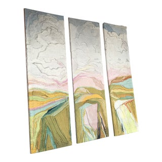 Mid-Century Modern Fiber Art Panels - Set of 3 For Sale