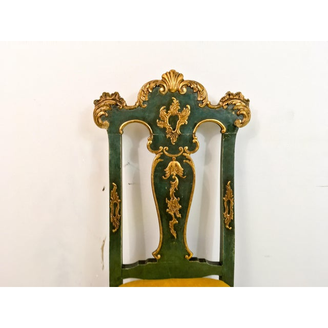 19th C. Venetian Carved & Gilded Chairs - a Pair - Image 5 of 6