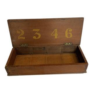Mid 20th Century Vintage Handmade Number Box For Sale